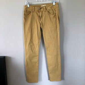 CAbi Gold Skinny Jeans